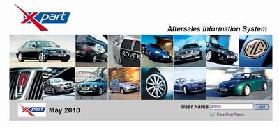 Каталог запасных частей и аксессуаров MG Rover EPC (версия май 2010 года)