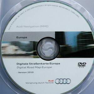 Audi MMI High 2g Europa 2010. Диск навигации + карты для автомобилей Audi.