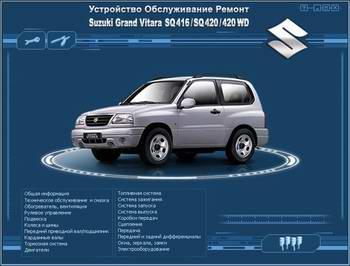 Suzuki Grand Vitara SQ416 / SQ420 / 420 WD (1997 - 2002 год выпуска). Мультимедийное руководство по ремонту.