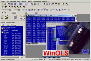 WinOLS 1.500 Программа - редактор прошивок ЭБУ автомобилей