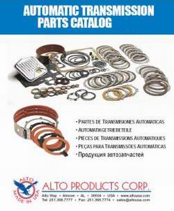 Каталог фрикционов Automotive Catalog ALTO для АКПП (2010)