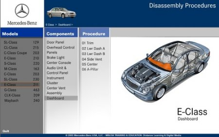 MERCEDES-BENZ - DISASSEMBLY ASSISTANT