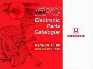 Каталог запасных частей HONDA EPC Electronic Parts Catalogue 16.00 2009