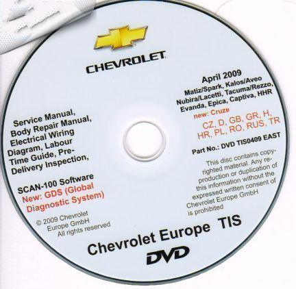 [GM Matiz 2006-2009, KalosAveo 2006-2009, NubiraLacetti 2006-2009, Cruse 2010, Takuma 2006-2009, EvandaEpica 2006-2009, Captiva 2007-2009] (2006-2009) Каталог Chevrolet TIS Europe