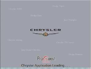Chrysler USA 10.2009. Каталог запасных частей Chrysler.
