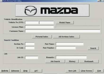 Mazda EPC Japan Каталог запчастей для автомобилей Mazda