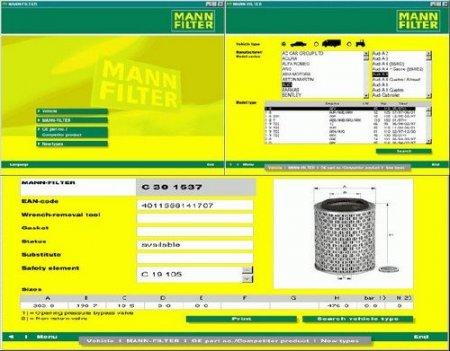 Каталог фильтров Mann 2009
