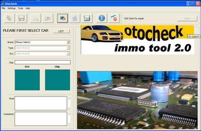 Скачать Otocheck 2. Программа для ремонта иммобилайзера автомобиля.