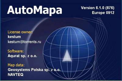 AutoMapa 6.1.0 EU (карта Navteq 12.2009). Программа GPS навигации.