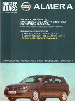 Nissan Almera N16 (2000 - 2006 год выпуска). Руководство по ремонту.