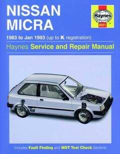 Nissan Micra серия K10 (1983 - 1993 год выпуска). Руководство по ремонту.