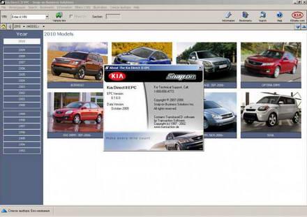 KIA Direct II EPC 10.2009 (американский рынок). Электронный каталог запасных частей KIA.