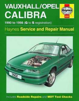 Vauxhall / Opel Calibra (1990 - 1998 год выпуска). Руководство по ремонту.