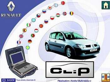 Renault Clip v.97 (2010) Программа для дилерской диагностики автомобилей.