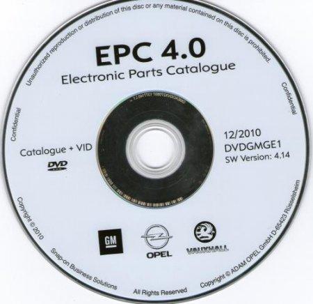 OPEL EPC 4.14 ( 12.2010 ) - Оригинальный каталог по подбору запчастей OPEL