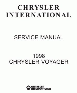 Chrysler Voyager (с 1998 года выпуска). Сервисное руководство по ремонту и обслуживанию.