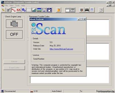ProScan 5.9 - Программа для диагностики автомобилей адаптером ELM327