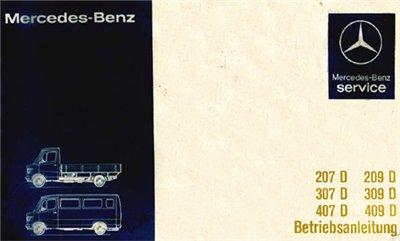 Mercedes-Benz 207,209,307,309,407,409. Diesel.руководство. 1977-1985.
