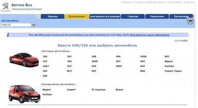 Peugeot Service Box Documentation Backup 05/2010 + Sedre