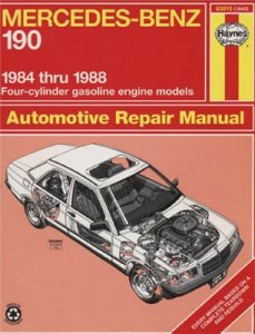 Mercedes-Benz 190. Repair Manual 1984-88.
