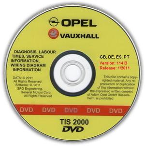 Opel TIS 2000 01.2011 (114.0 B). Документация по ремонту автомобилей Opel, Vauxhall, Chevrolet.