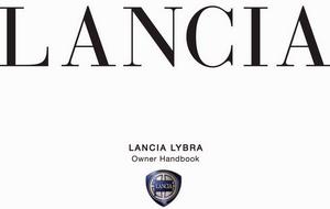 Lancia Lybra. Руководство пользователя по эксплуатации автомобиля.