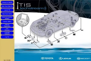 Toyota Techstream (������ 5.10.029 2010). ��������� ��������� ����������� ����������� Toyota, Lexus, Scion.