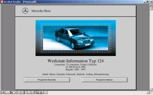 Mercedes W124. Оригинальное руководство по ремонту.1985-1997.