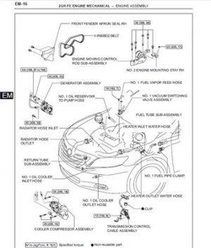 Toyota Camry 2007. Оригинальное руководство по ремонту.