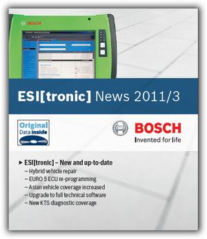 Bosch ESI tronic (версия 2011/3 DVDU). Каталог запасных частей фирмы Bosch