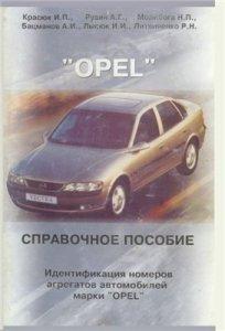 ИДЕНТИФИКАЦИЯ НОМЕРОВ АГРЕГАТОВ. OPEL .