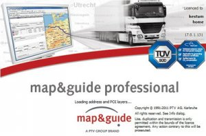 ��������� �� ������� ������ ��� �������� �����������: Map and Guide Professional v 17.0 Europe City (2011 ���)