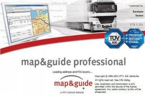 Навигация по дорогам Европы для грузовых автомобилей: Map and Guide Professional v 17.0 Europe City (2011 год)