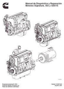 Дизельные двигатели Cummins (серии ISX и QSX15). Руководство по ремонту Repair Manual
