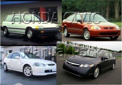 Руководство по ремонту и обслуживанию автомобиля Honda Civic (1984-2006) сборник инструкций и руководств