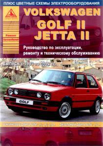 Volkswagen Golf II, Jetta II (1983 - 1992 год выпуска). Руководство по ремонту, электрические схемы