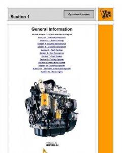 Двигатель JCB 444. Руководство по ремонту.