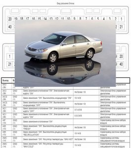 Toyota Camry (2004 г.в., двигатель 1MZ). Схемы электрооборудования