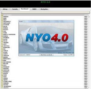 NYO 4 Full 2012 калькулятор одометров, магнитол, навигаций, подушек безопасности, иммобилайзера
