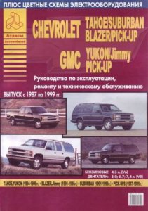 Chevrolet Tahoe, GMC Yukon, Chevrolet Blazer, GMC Jimmy, Chevrolet Suburban, Chevrolet / GMC Pick-Ups (1987-1999 год выпуска). Руководство по ремонту