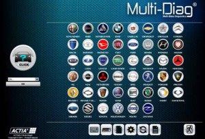 Софт для диагностики автомоиблей Actia Multi-Di@g II + SP2 2.2013 год