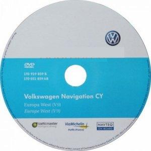 Штатная навигация для RNS-510 автомобилей Volkswagen и Skoda с картами Восточной Европы версии 7921
