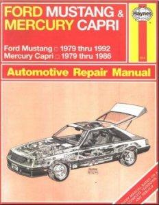Ford Mustang (1979-1992), Mercury Capri (1979-1986): пособие по ремонту автомобилей