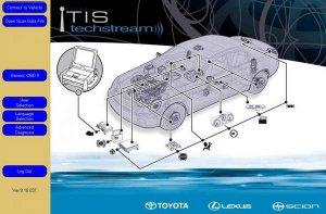 Диагностическое ПО Toyota Techstream (v.9.10.037, 2014)