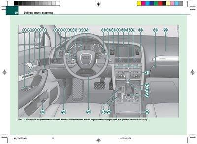 Audi A6 C6: эксплуатация автомобиля. Инструкция