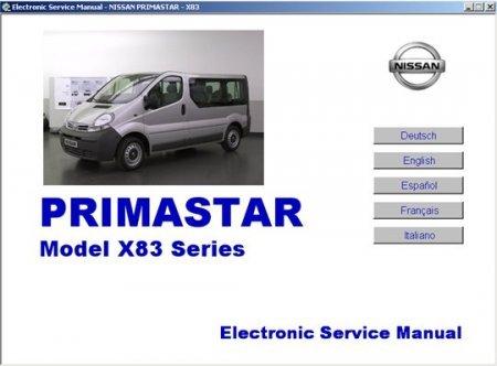 скачать руководство Nissan Primastar X83 Series