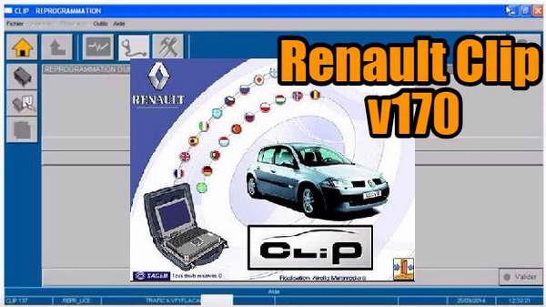 Renault Can Clip (2017, ver 170): скачать программу диагностики Renault, Dacia и Samsung