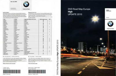 BMW DVD Road Map Europe High 2010 Штатная навигация для автомобилей BMW.