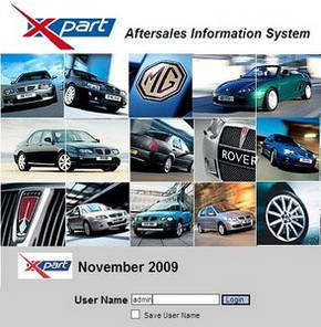 MG Rover EPC (Electronic Parts Catalog) / Aftersales Information System Ноябрь 2009. Электронный каталог запчастей.