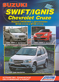 SUZUKI IGNIS с 2000 / SUZUKI SWIFT 2000-2005, CHEVROLET CRUZE 2001-2008 бензин